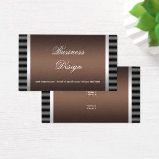 Eleganter schwarzer schokoladenbrauner grauer visitenkarte