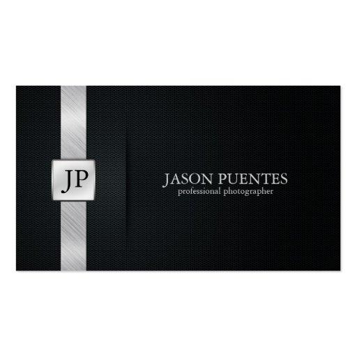 Eleganter schwarzer und silberner beruflicher visitenkarten vorlagen