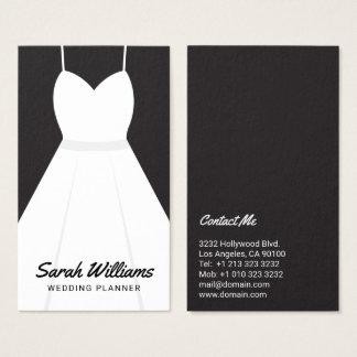 Eleganter Schwarzweiss-Ereignis-Hochzeits-Planer Visitenkarte