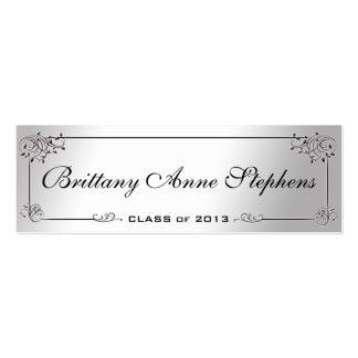 Eleganter silberner Abschluss-Namenskarten-Einsatz Jumbo-Visitenkarten
