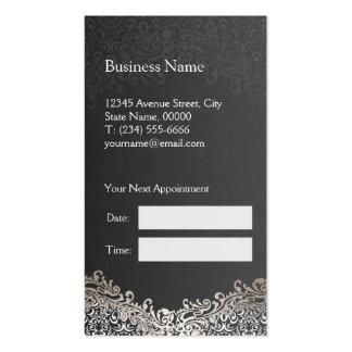 Eleganter silberner Damast - Visitenkarten
