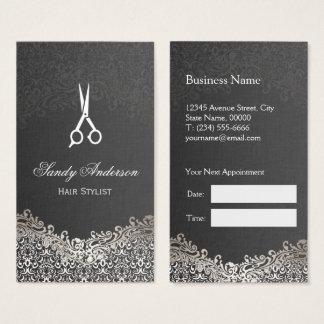 Eleganter silberner Damast - Visitenkarte