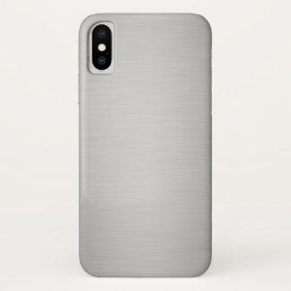 Eleganter silberner metallischer Luxus iPhone X Hülle