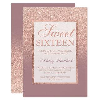 Eleganter staubiger Bonbon 16 Rose des 12,7 X 17,8 Cm Einladungskarte