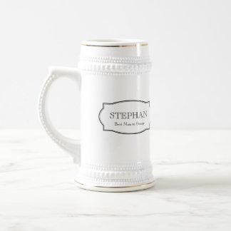 Eleganter Stein Bier der kundenspezifischen Monogr Teetassen