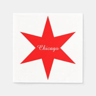 """Eleganter Stern """"Chicagos"""" - Chicago Papierserviette"""