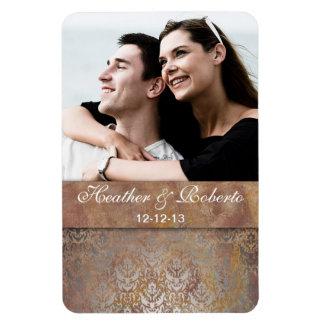 Eleganter toskanischer Damast Save the Date Magnete