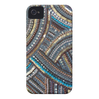 Eleganter Türkis sequined Case-Mate iPhone 4 Hülle