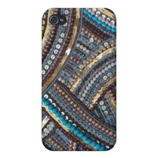 Eleganter Türkis sequined iPhone 4/4S Cover