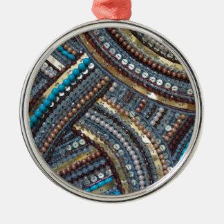 Eleganter Türkis sequined Silbernes Ornament