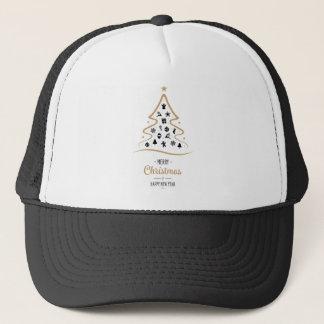 Eleganter und einzigartiger Weihnachtsbaum einfach Truckerkappe