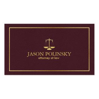 Eleganter und moderner lederner Rechtsanwalt Visitenkarte