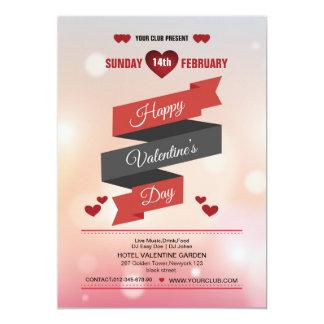 eleganter Valentinstag-Party-Flyer Karte