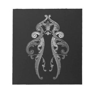 Eleganter verzierter Goth Entwurf Notizblock