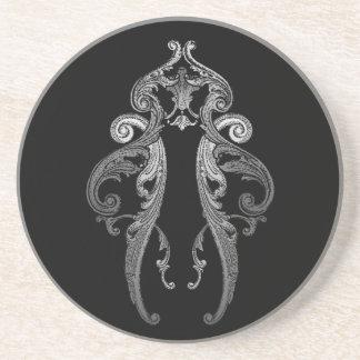 Eleganter verzierter Goth Entwurf Untersetzer