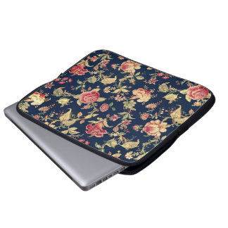 Eleganter Vintager BlumenRosen-Elektronik-Fall Laptop Schutzhüllen