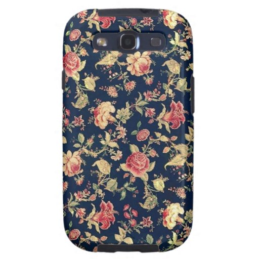 Eleganter Vintager BlumenRosen-Samsungs-Galaxie-Ka Samsung Galaxy S3 Schutzhülle