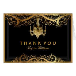 Eleganter Vintager Leuchter danken Ihnen zu Karte
