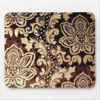 Eleganter Vintager Schokoladen-Damast Mousepads