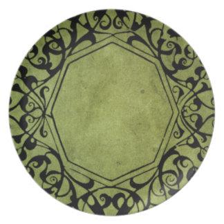 Eleganter Vintager viktorianischer Art-Entwurf Teller