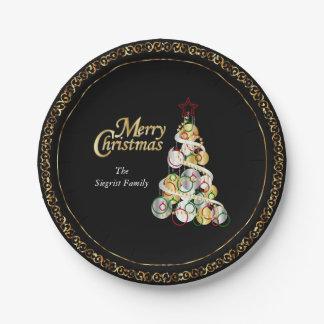 Eleganter Weihnachtsbaum-Entwurf Pappteller