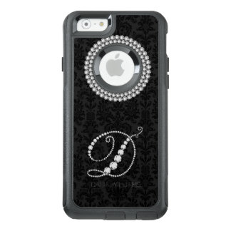Eleganter weißer Diamant-Druck-Monogramm-Buchstabe OtterBox iPhone 6/6s Hülle