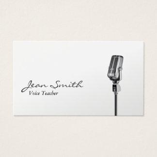 Eleganter weißer Sänger-Musik-Sprachlehrer Visitenkarten