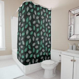 Eleganter weißer und grüner Palmblatt-Duschvorhang Duschvorhang