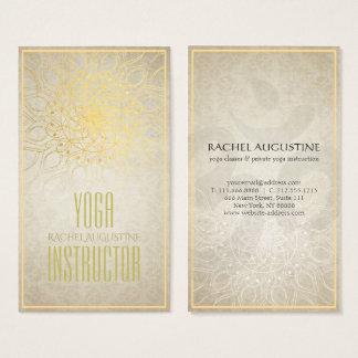 Eleganter YOGA Lehrer-BlumenMandala u. OM-Symbol Visitenkarten