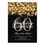 Elegantes 60. Geburtstags-Party-Glitzern-Gold 12,7 X 17,8 Cm Einladungskarte
