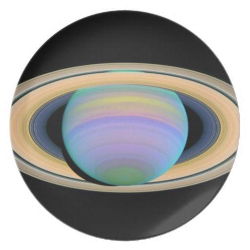 Elegantes Abendessen Saturns Teller