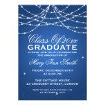 Elegantes Abschluss-Party-funkelndes Schnur-Blau Ankündigungskarte