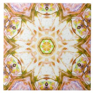 elegantes abstraktes Blumenentwurfsmuster Chicyoga Keramikfliese