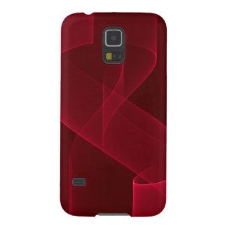 Elegantes abstraktes rotes Band Samsung Galaxy S5 Cover