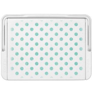 Elegantes aquamarines Glitter-Polka-Punkt-Muster Kühlbox
