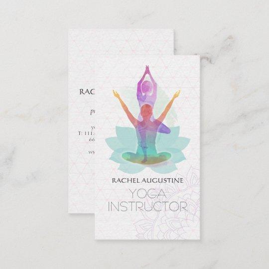Elegantes Aquarell Yoga Meditations Lotus Muster