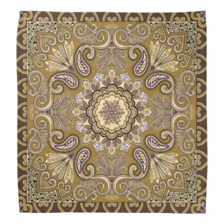 Elegantes beige Paisley-Muster Halstuch
