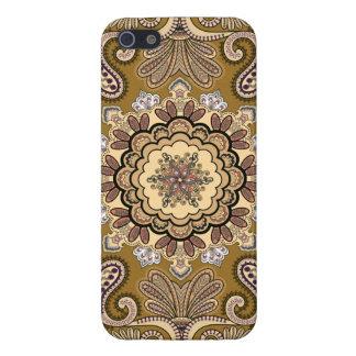 Elegantes beige Paisley-Muster iPhone 5 Schutzhüllen