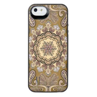 Elegantes beige Paisley-Muster iPhone SE/5/5s Batterie Hülle