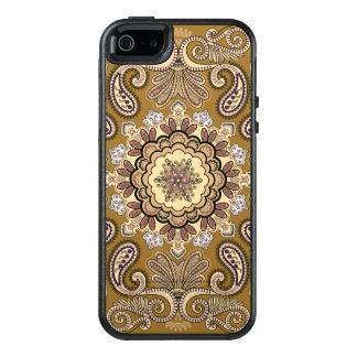 Elegantes beige Paisley-Muster OtterBox iPhone 5/5s/SE Hülle