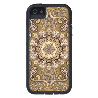 Elegantes beige Paisley-Muster Tough Xtreme iPhone 5 Hülle