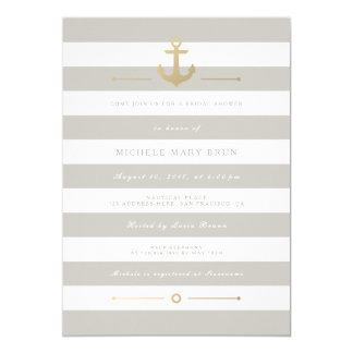 Elegantes beige SeeBrautparty laden ein 12,7 X 17,8 Cm Einladungskarte
