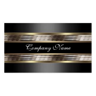 Elegantes beige silbernes Chrom-Metallschwarzes Visitenkarten