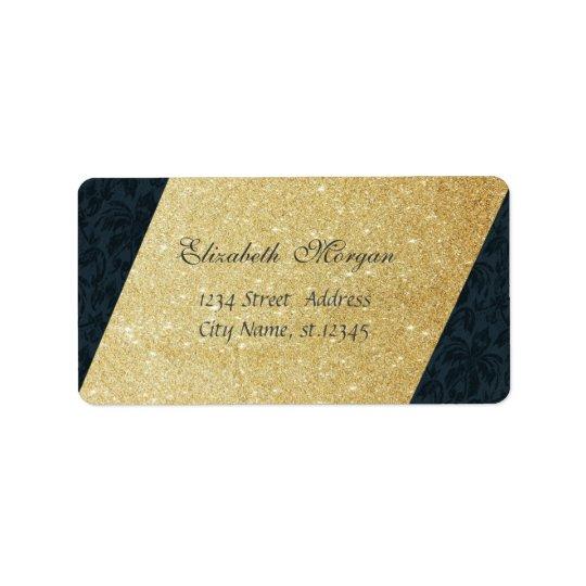 Elegantes bezauberndes Imitat-Gold Glittery, Adressaufkleber