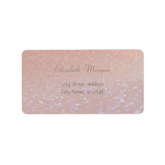 Elegantes bezauberndes rosa Glittery, Bokeh Adressaufkleber