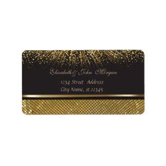 Elegantes bezauberndes stilvolles schwarzes adressaufkleber