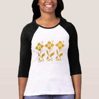 Elegantes Blatt der Strampler-Blumen-n T-Shirt
