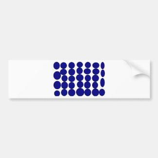 Elegantes Blau punktierte Einzelteile Autoaufkleber