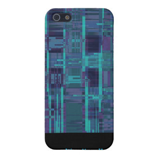 Elegantes blaues abstraktes gestreiftes hülle fürs iPhone 5