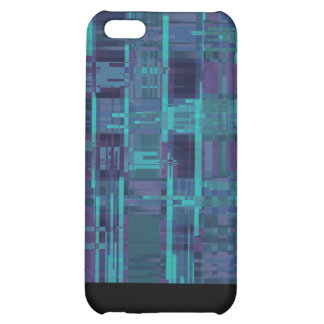 Elegantes blaues abstraktes gestreiftes iPhone 5C hüllen